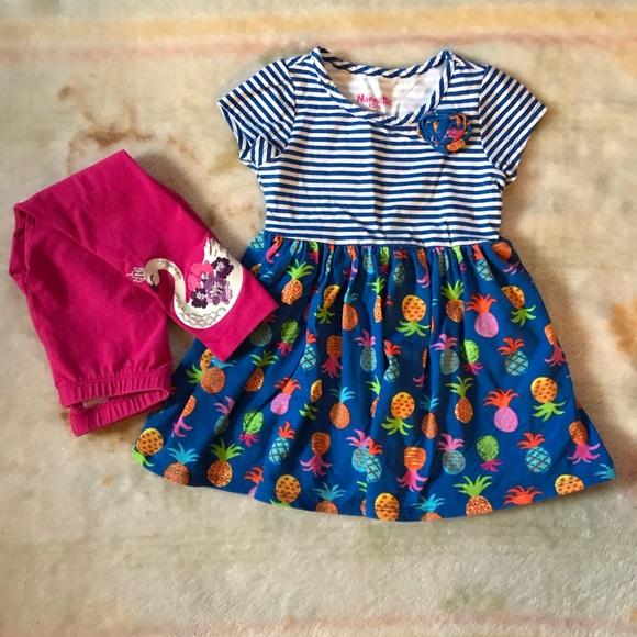 45b3d59b 🌸Nannette girls size 3T dress matching bundle set